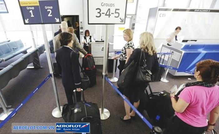 Hành lý cho khách hàng đi theo nhóm