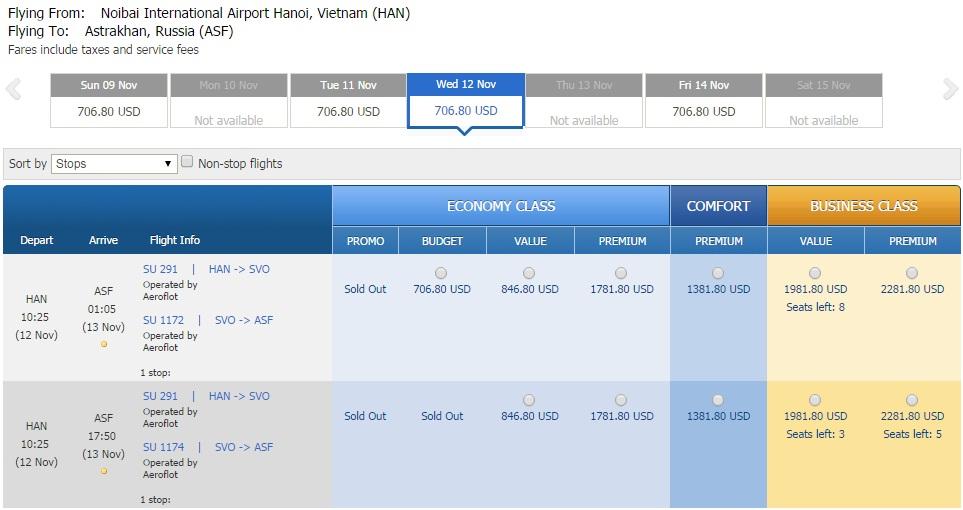 Vé máy bay đi Astrakhan giá rẻ