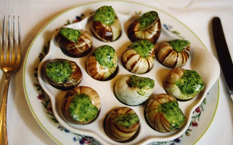 Kết quả hình ảnh cho ốc sên nướng của Pháp