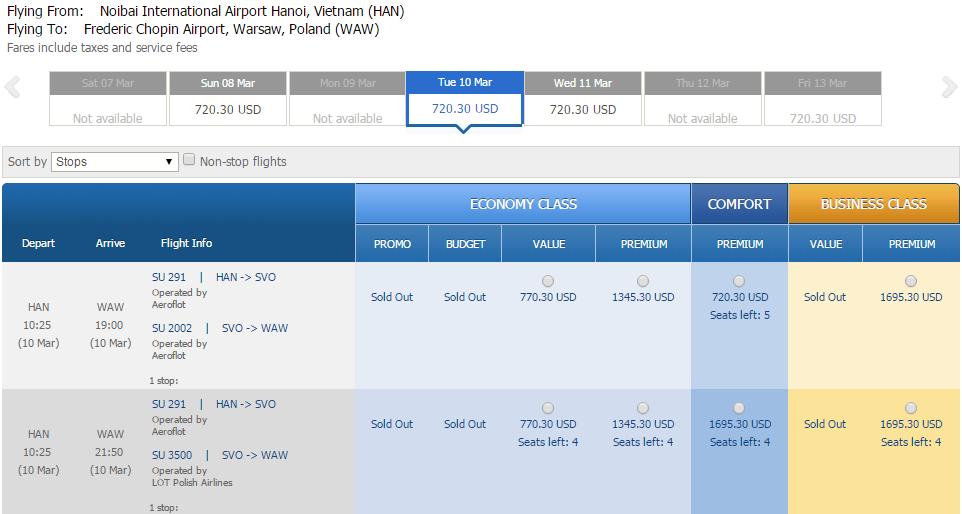 Vé máy bay đi Ba Lan bao nhiêu tiền?