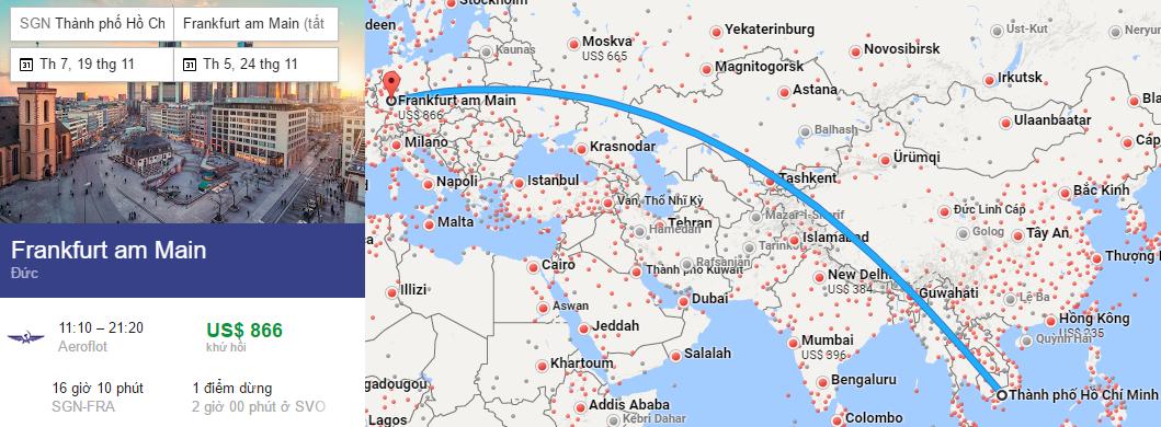 Tham khảo hành trình từ TP HCM đến Frankfurt