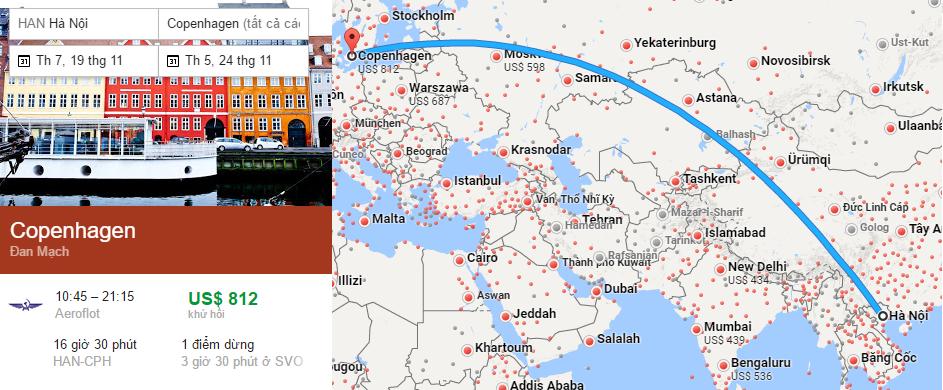 Tham khảo hành trình từ Hà Nội đến Copenhagen