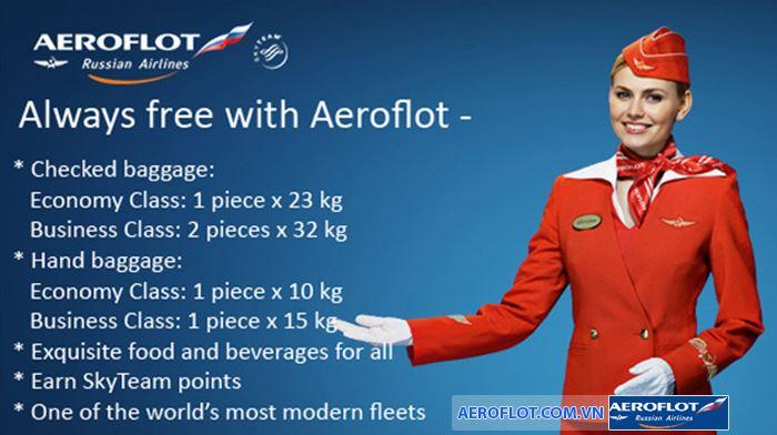 Quy định hành lý Aeroflot