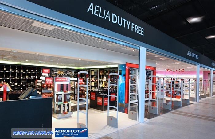 Mua sắm hàng miễn thuế ở sân bay Rome