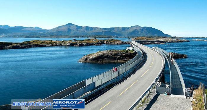 Con đường Đại Tây Dương nổi tiếng là con đường nguy hiểm và ấn tượng