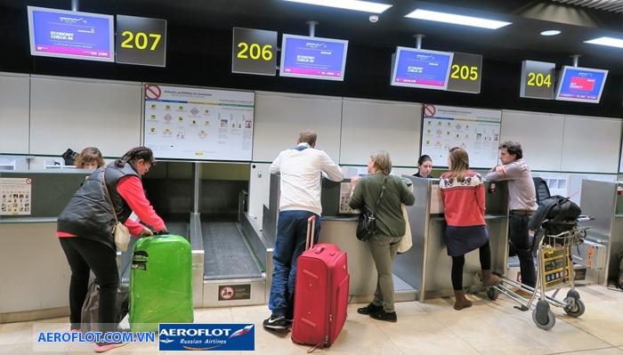 Hành lý miễn cước Aeroflot