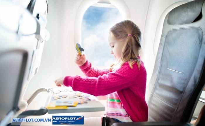Aeroflot ịch vụ giải trí trên tàu cho trẻ em