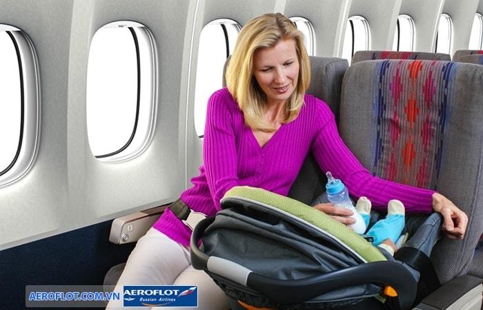 Quy định trẻ em đi máy bay Aeroflot