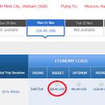 Tham khảo vé máy bay giá rẻ TP HCM - Moscow của Aeroflot