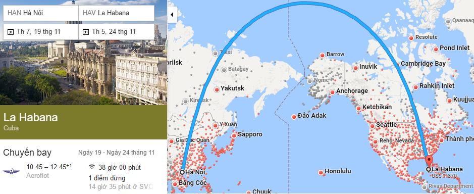 Tham khảo hành trình bay Hà Nội đến Havana