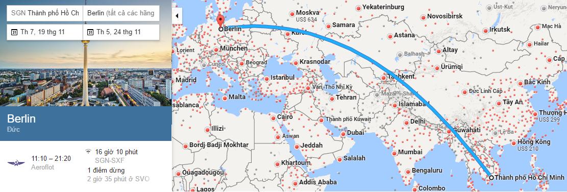 Tham khảo hành trình bay TP HCM đến Berlin