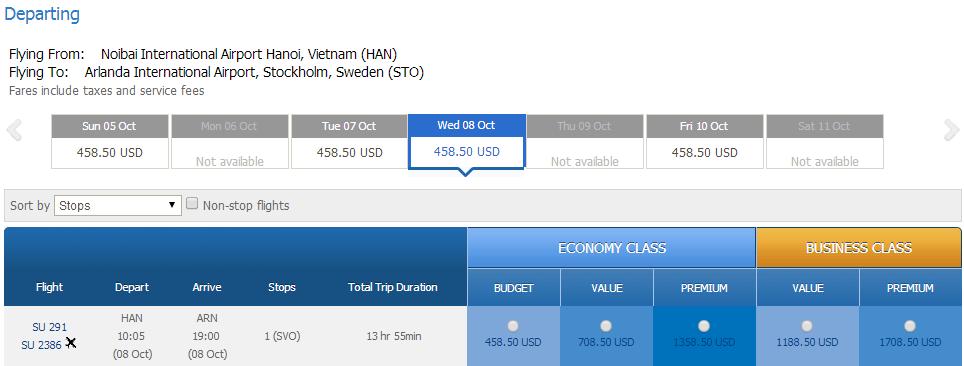 Vé máy bay đi Gothenburg giá rẻ
