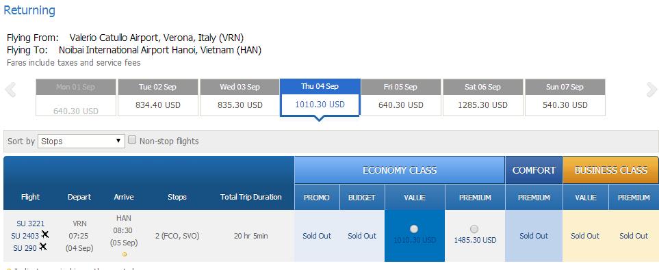 Vé máy bay đi Verona giá rẻ