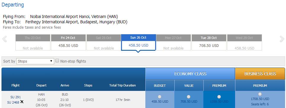 Vé máy bay đi Hungary bao nhiêu tiền?
