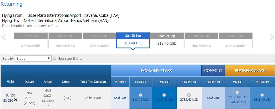 Vé máy bay đi Cuba giá rẻ nhất