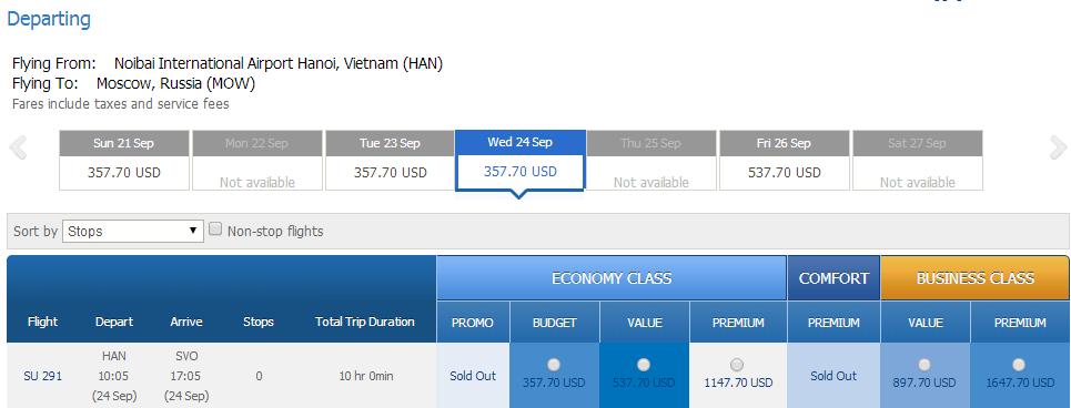 Mua vé máy bay đi Nga giá rẻ ở đâu?