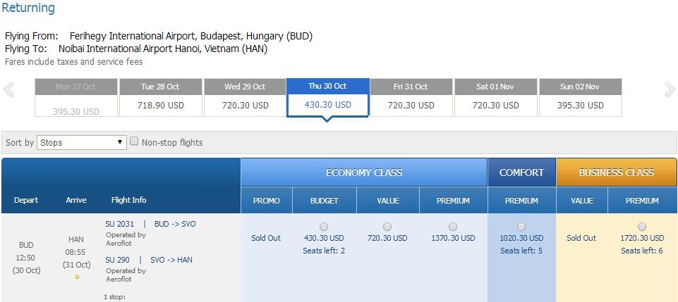 Vé máy bay Hà Nội đi Hungary giá rẻ