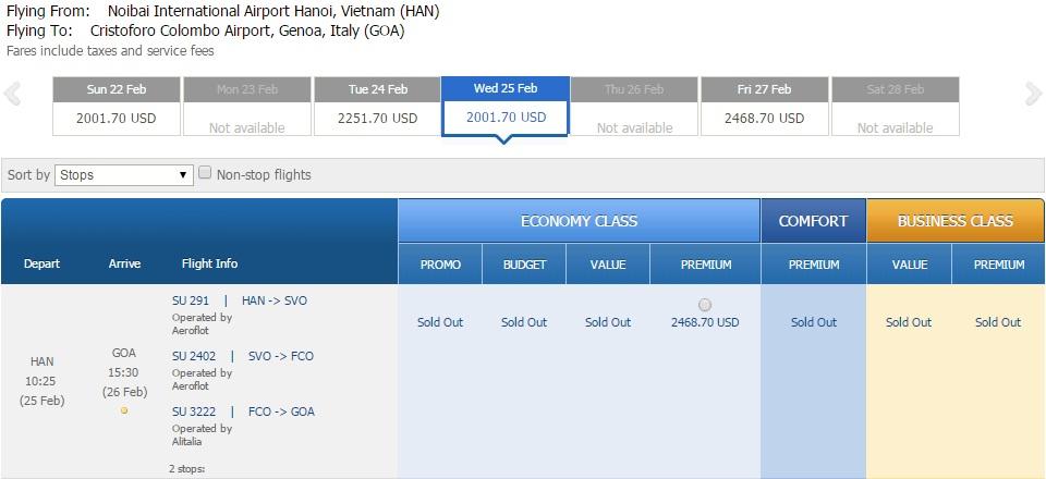 Vé máy bay đi Genoa giá rẻ