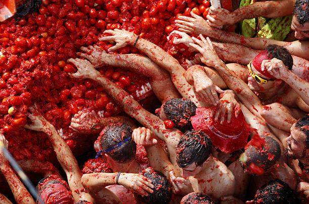 lễ hội ném cà chua2