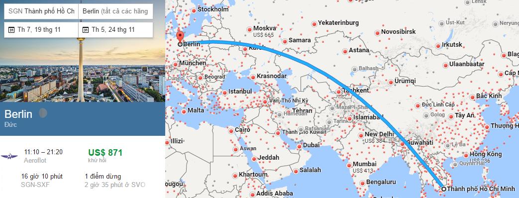 Tham khảo hành trình bay từ TP HCM đến Berlin bằng vé máy bay đi Đức