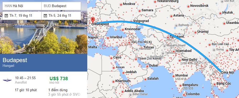 Tham khảo hành trình bay đi Budapest từ Hà nội