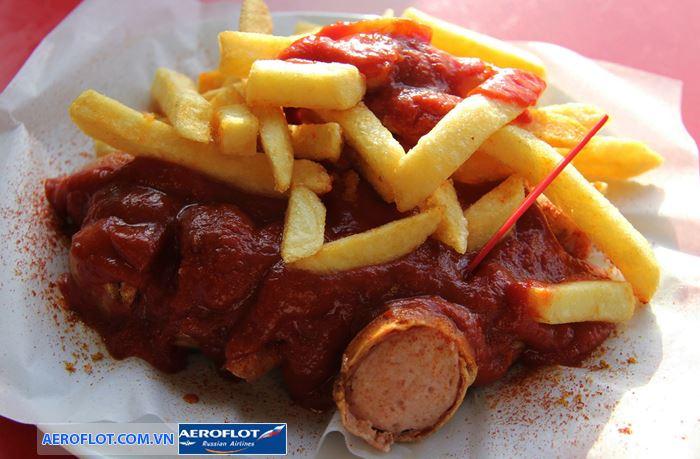 Xúc xích cà ri Currywurst món ăn đặc của Đức