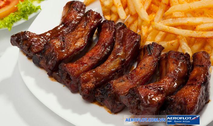 Costillitalà một trong những món ăn đặc sản của Cuba