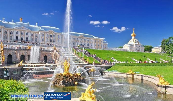 Petersburg's Peterhof cung điện mùa hè của hoàng gia