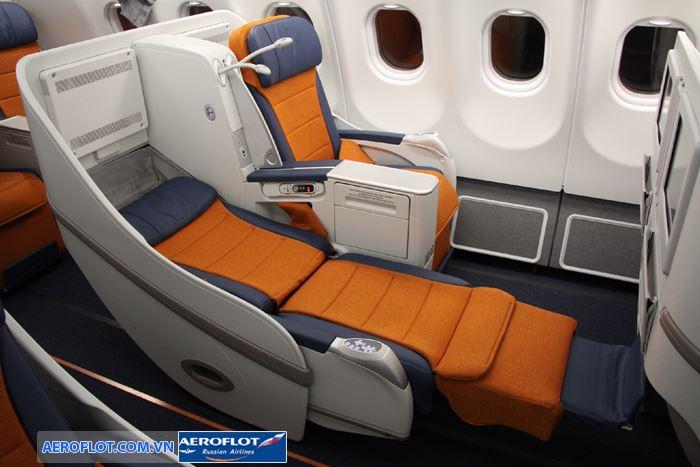 Hạng ghế cao cấp Business Class giúp hành khách có thể nằm