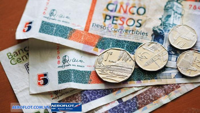 Cuba sử dụng hai loại đồng tiền là tiền peso và tiền CUC